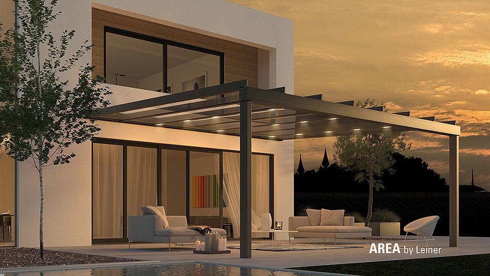 AREA Terrassendach mit Beleuchtung