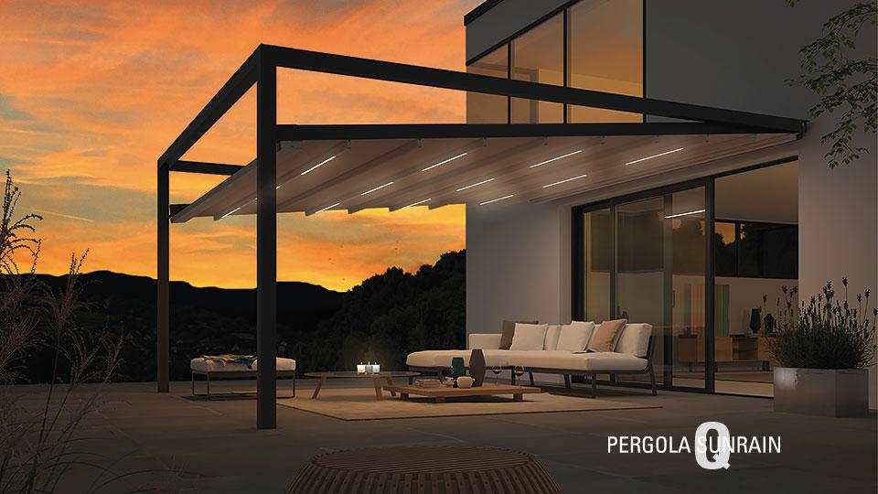 Pergola Sunrain mit LED Beleuchtung