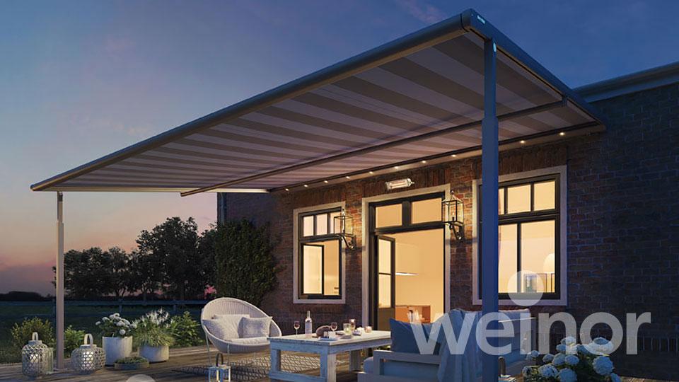 Regenmarkise auf Terrasse