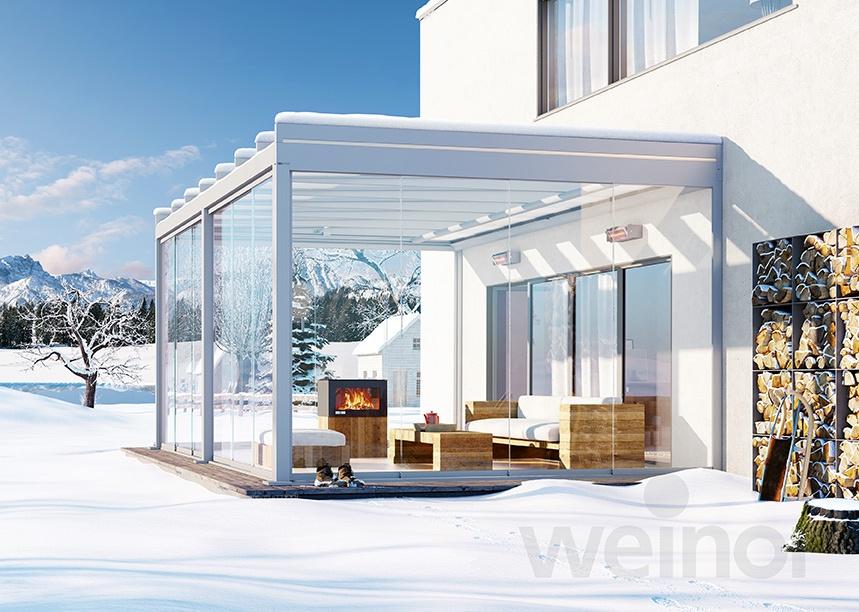 Terrassendach Terrazza Pure im Winter