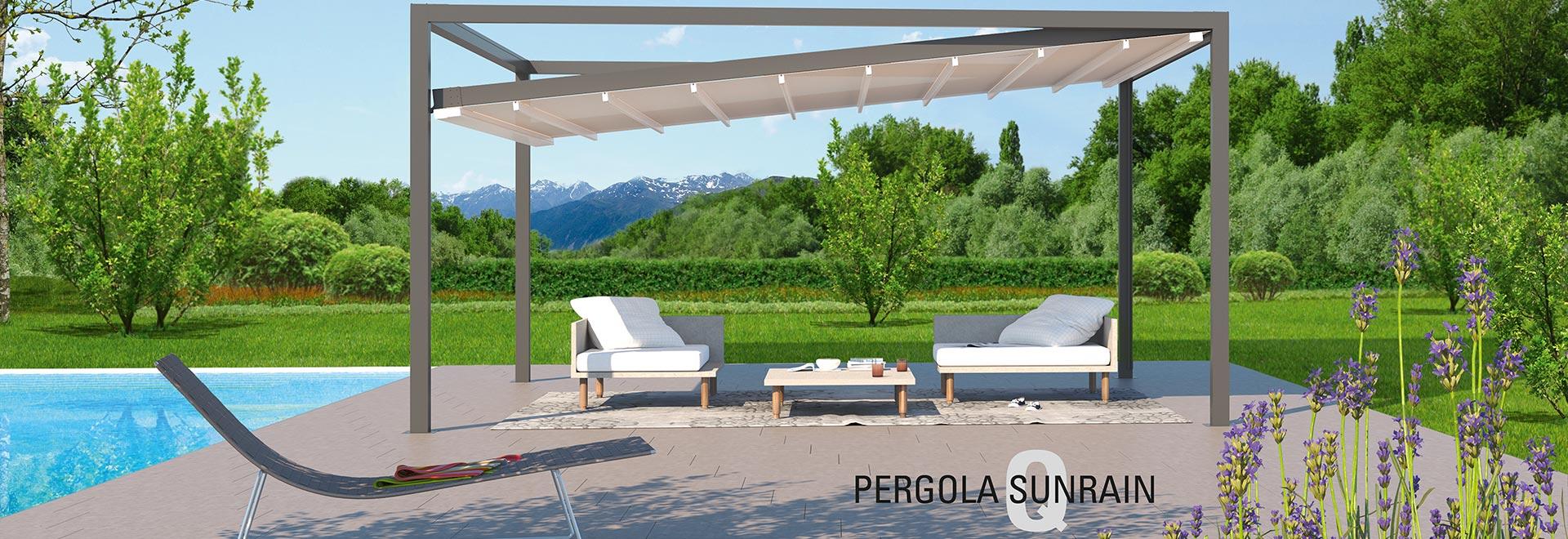 Terrassenüberdachung Pergola Sunrain Q
